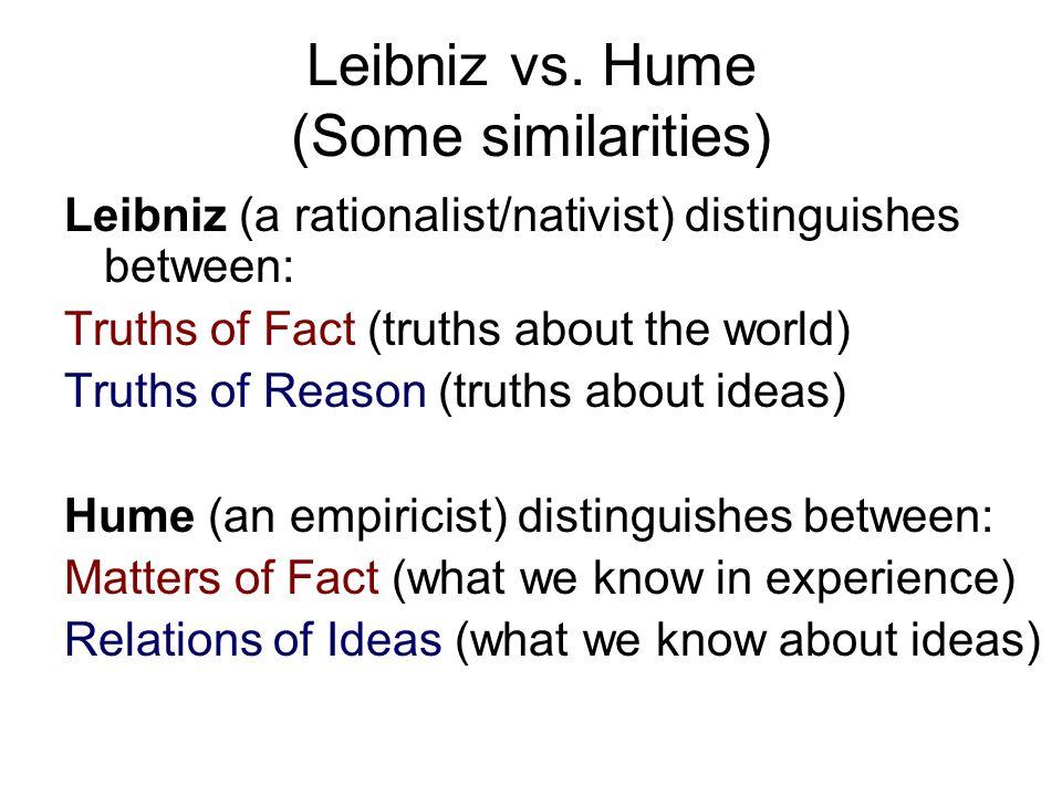 Leibniz vs. Hume (Some similarities)
