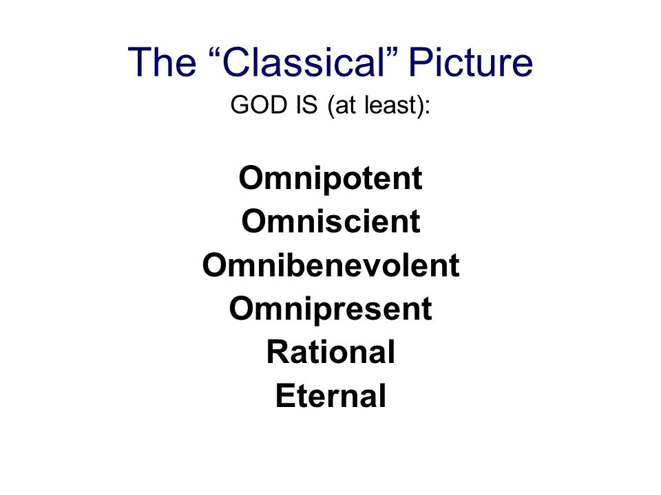 The Classical Picture