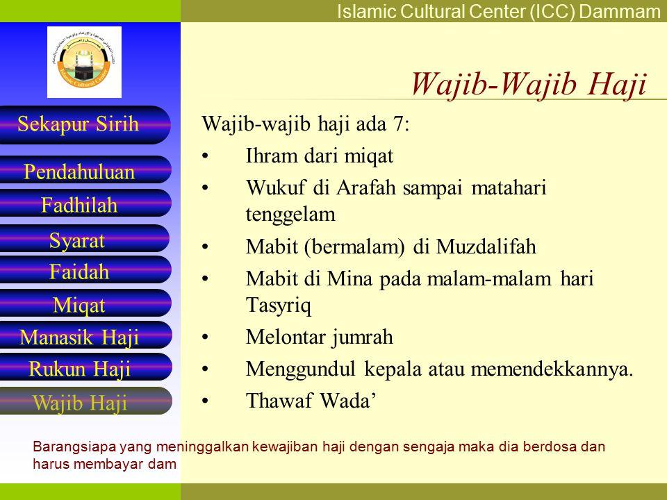 Wajib-Wajib Haji Wajib-wajib haji ada 7: Ihram dari miqat