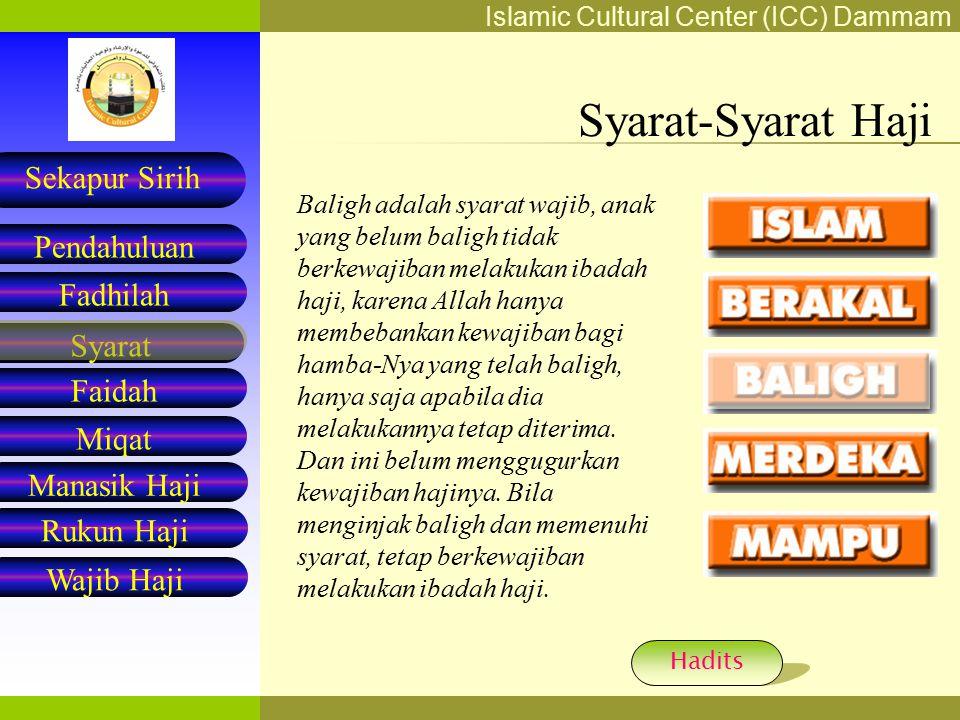 Syarat-Syarat Haji