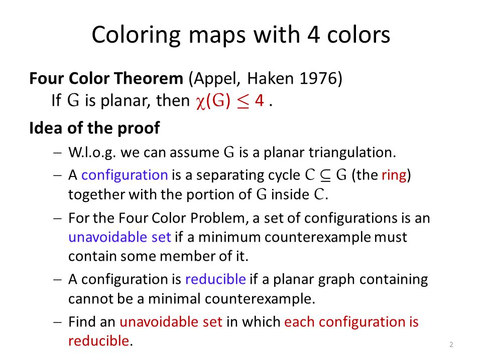 Coloring maps with 4 colors