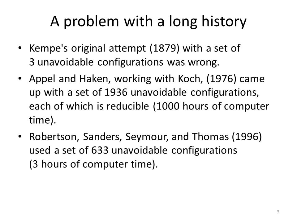 A problem with a long history