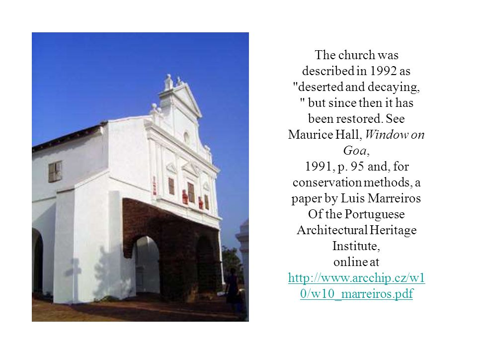 The church was described in 1992 as deserted and decaying,