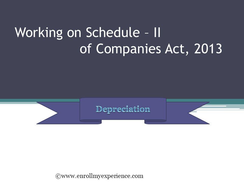 Working on Schedule – II of Companies Act, 2013