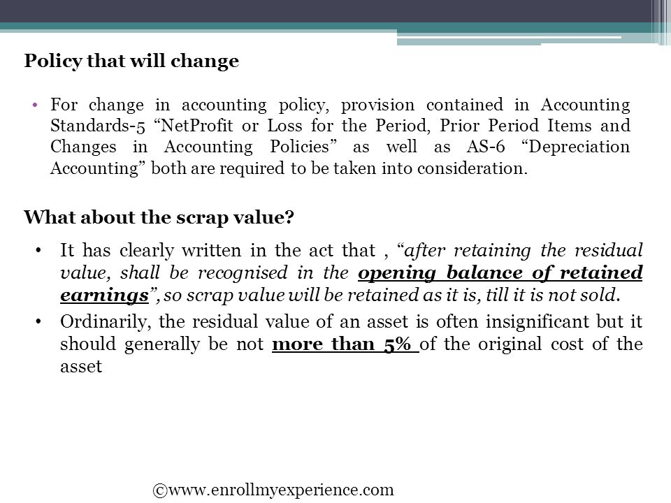 Policy that will change