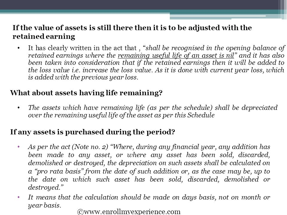 If any assets is purchased during the period