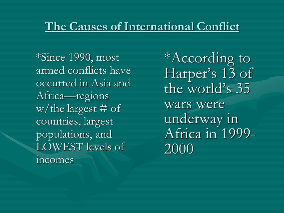 The Causes of International Conflict