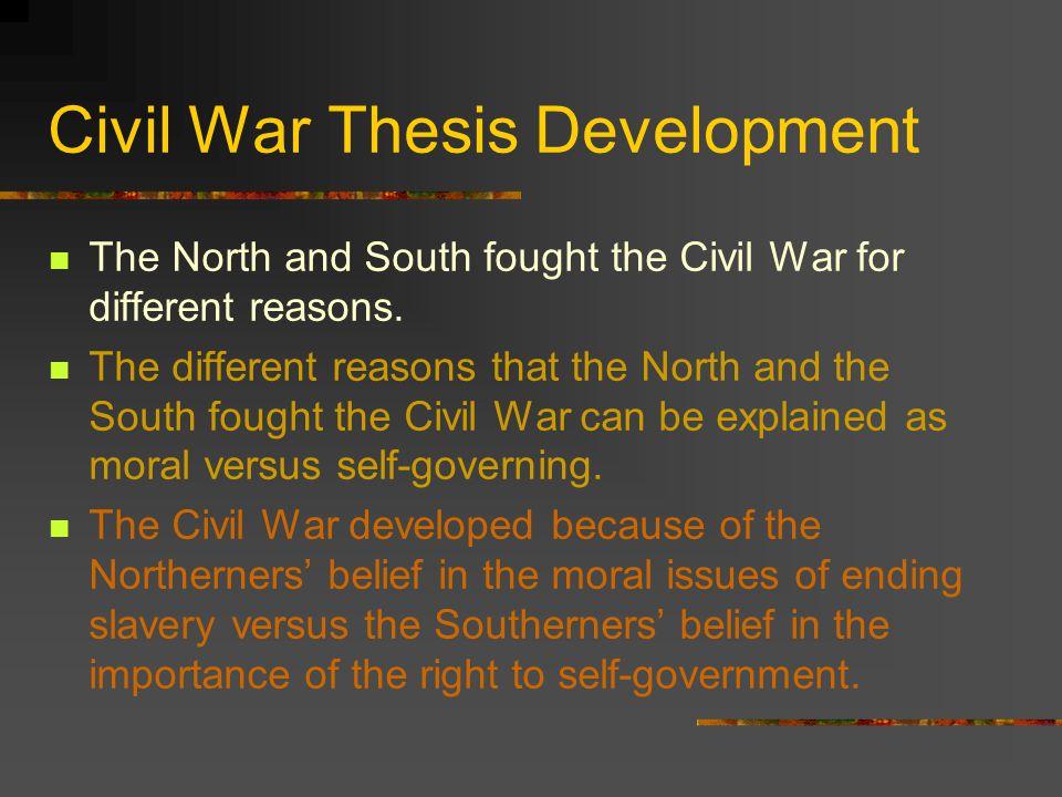 Civil War Thesis Development