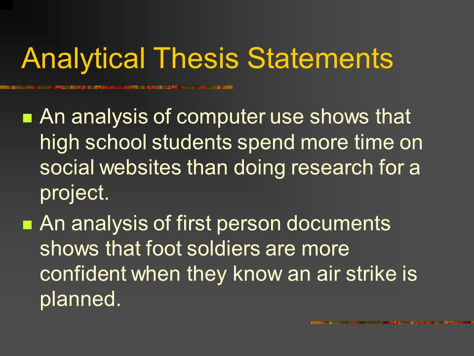 Analytical Thesis Statements