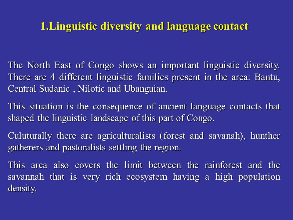 Linguistic diversity and language contact