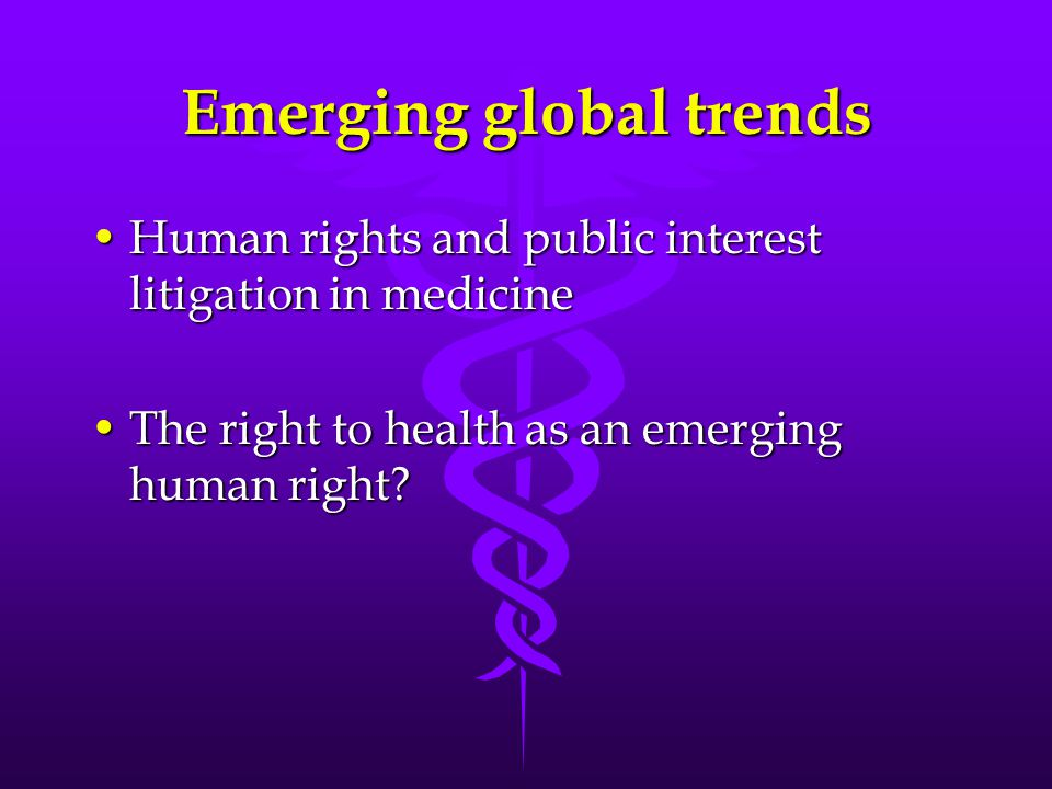 Emerging global trends