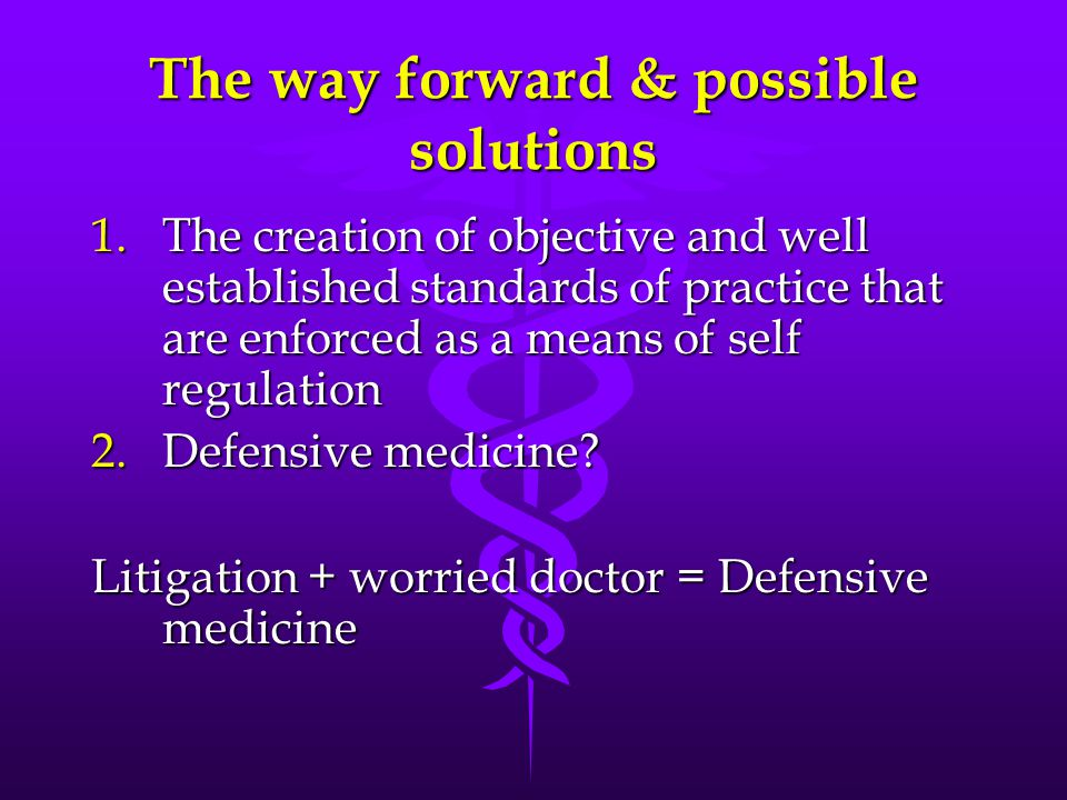 The way forward & possible solutions