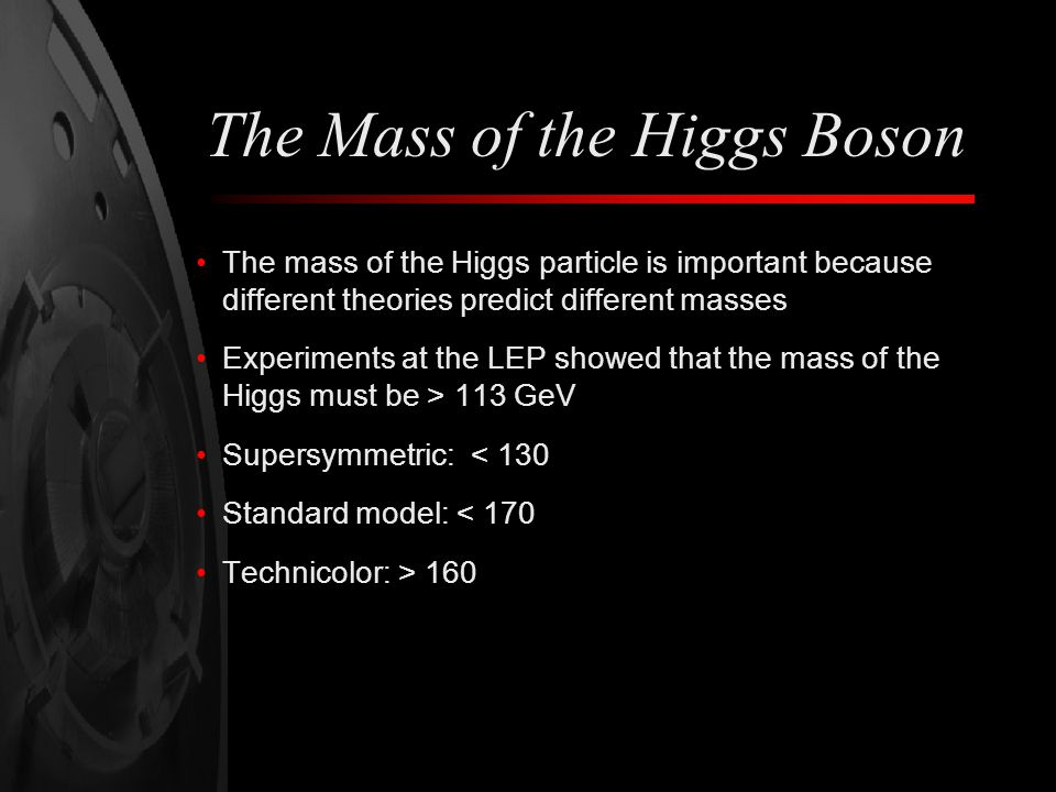 The Mass of the Higgs Boson