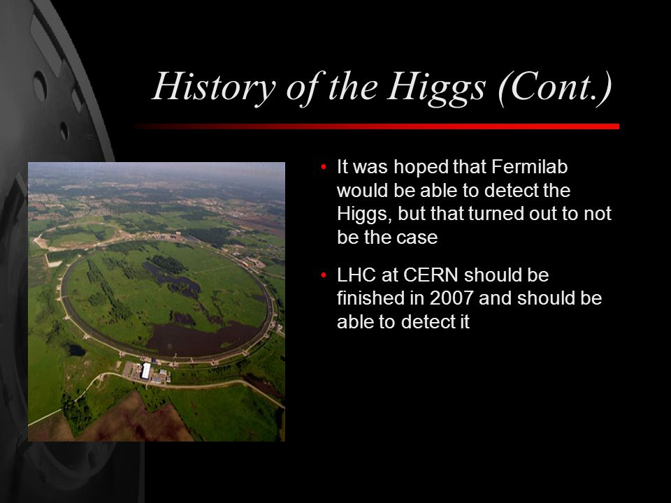 History of the Higgs (Cont.)