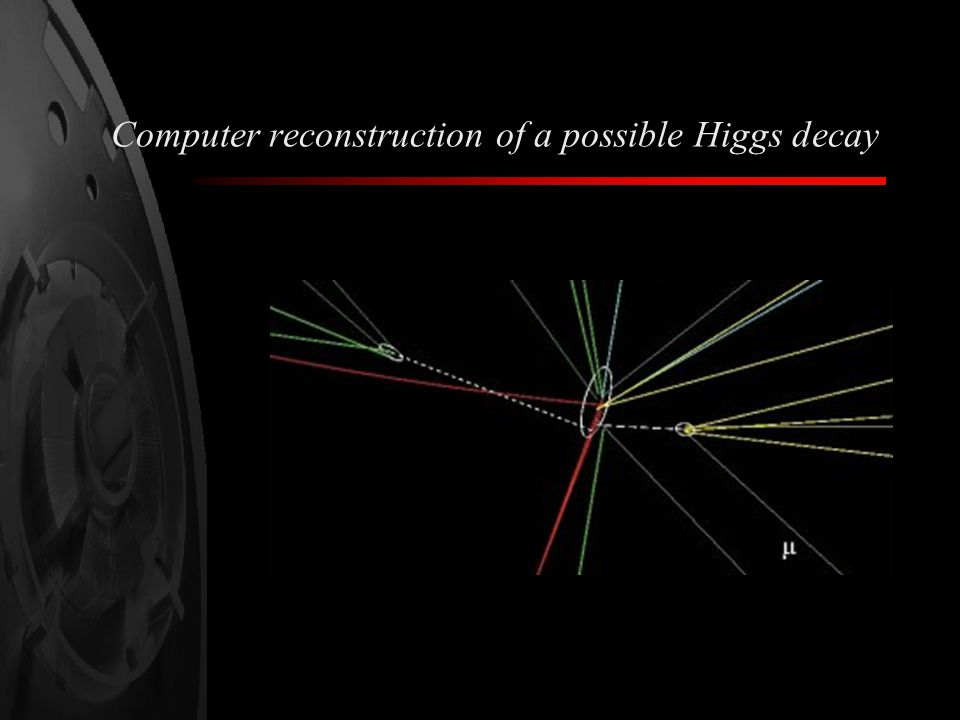 Computer reconstruction of a possible Higgs decay