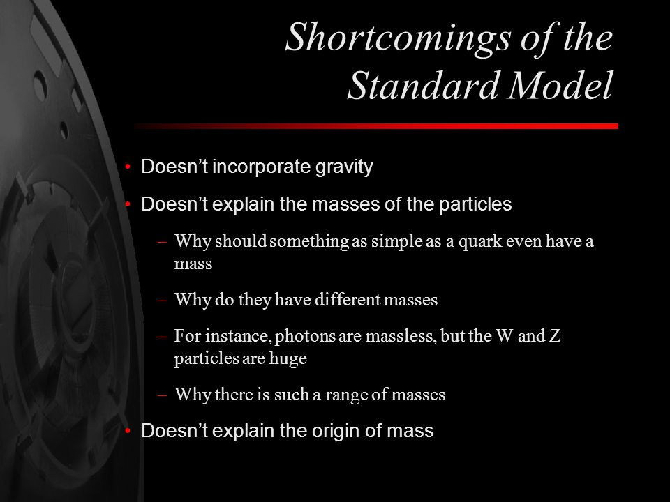 Shortcomings of the Standard Model