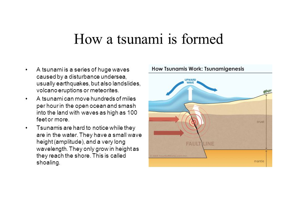 How a tsunami is formed