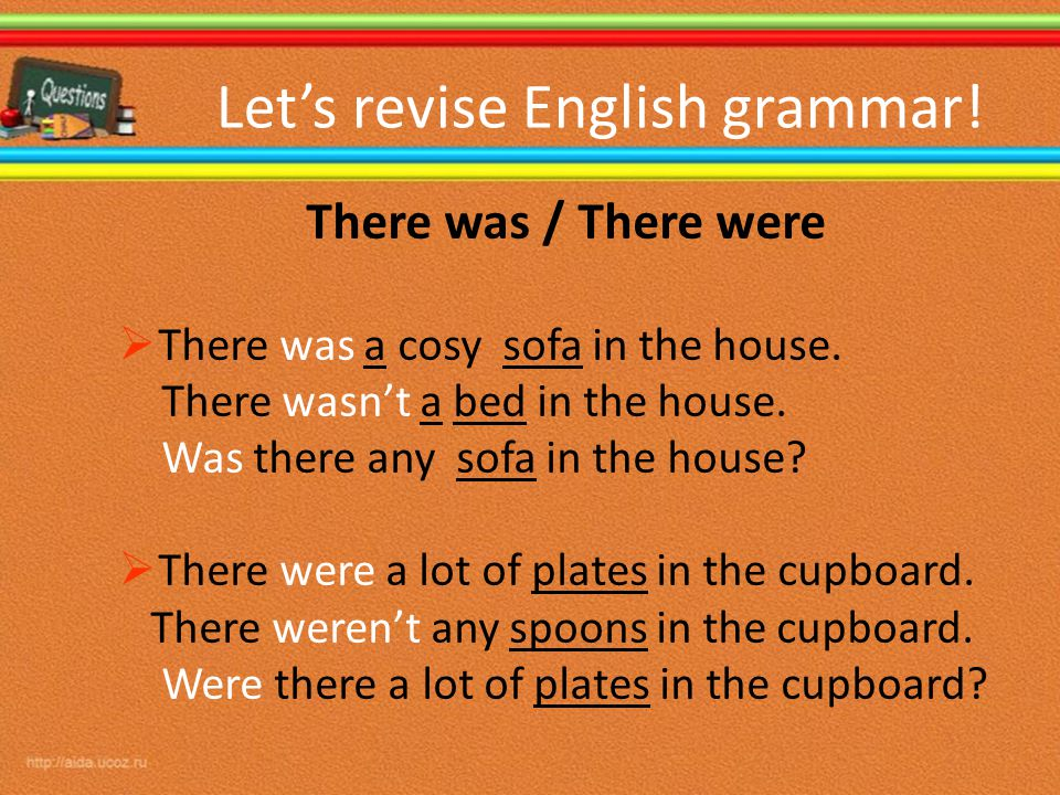 Let's revise English grammar!