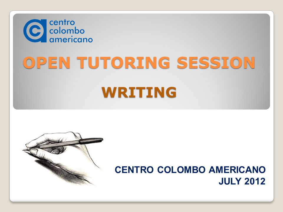 Online writing tutoring