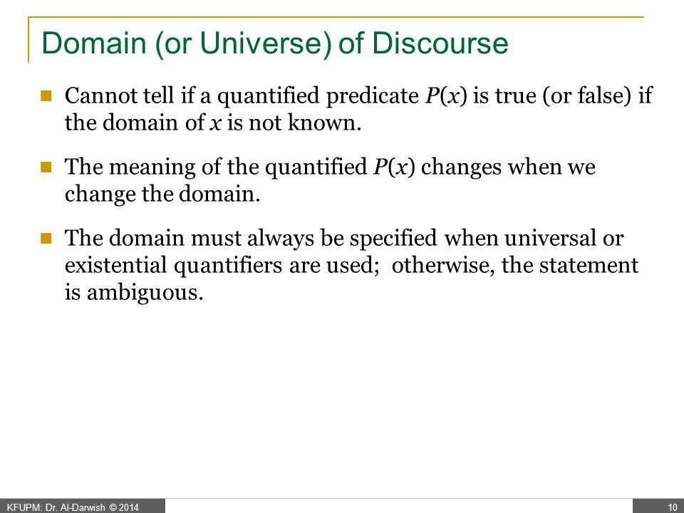 Quantification Examples
