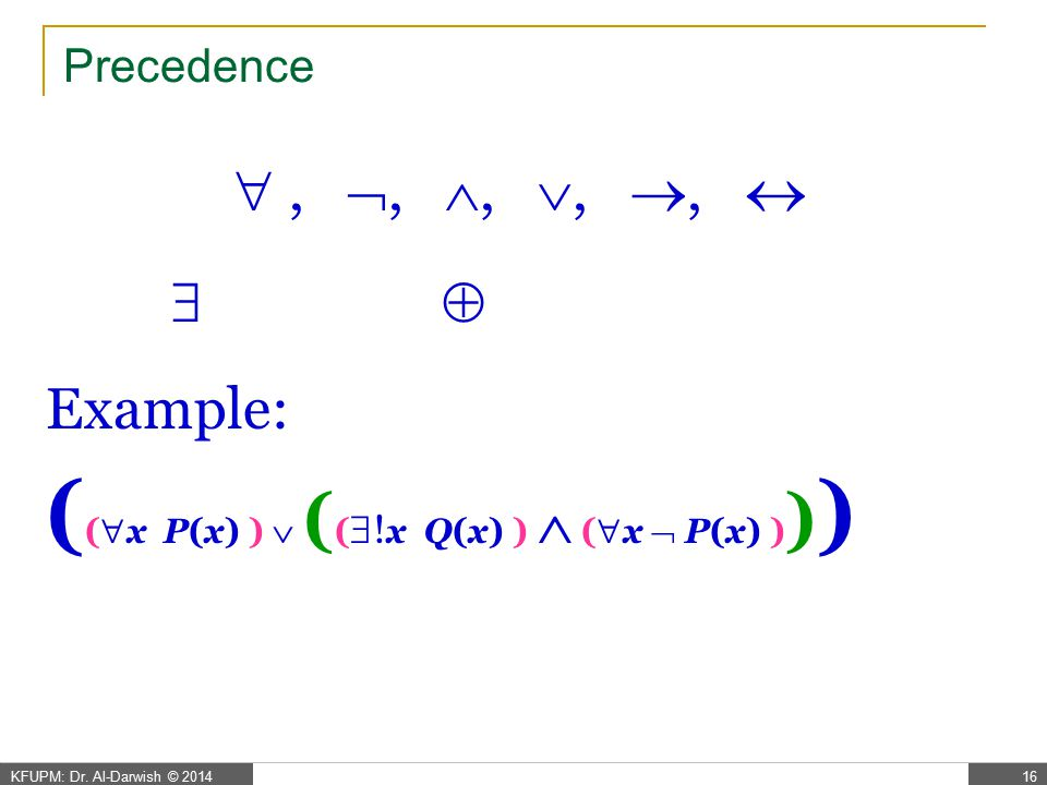 Correct Equivalences x ( P(x)  Q(x) )  x P(x)  x Q(x)