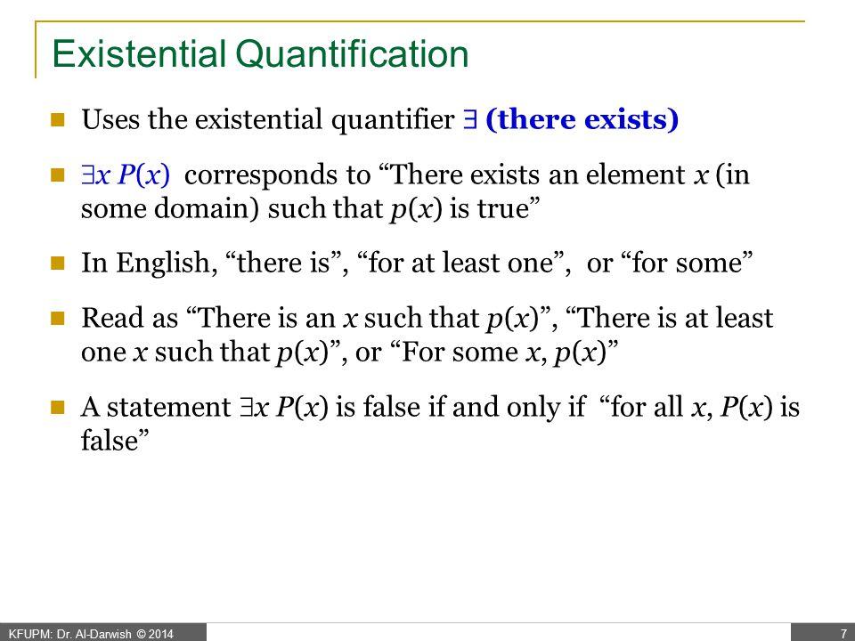Existential Quantification - Examples