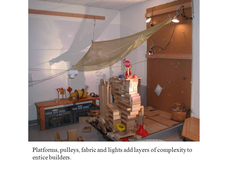 Platforms, pulleys, fabric and lights add layers of complexity to entice builders.