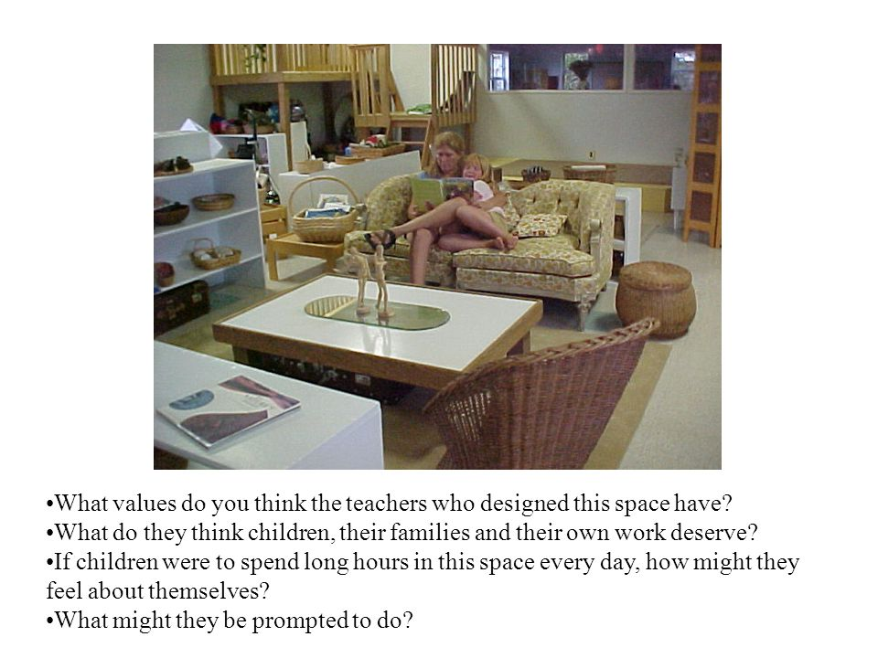 What values do you think the teachers who designed this space have