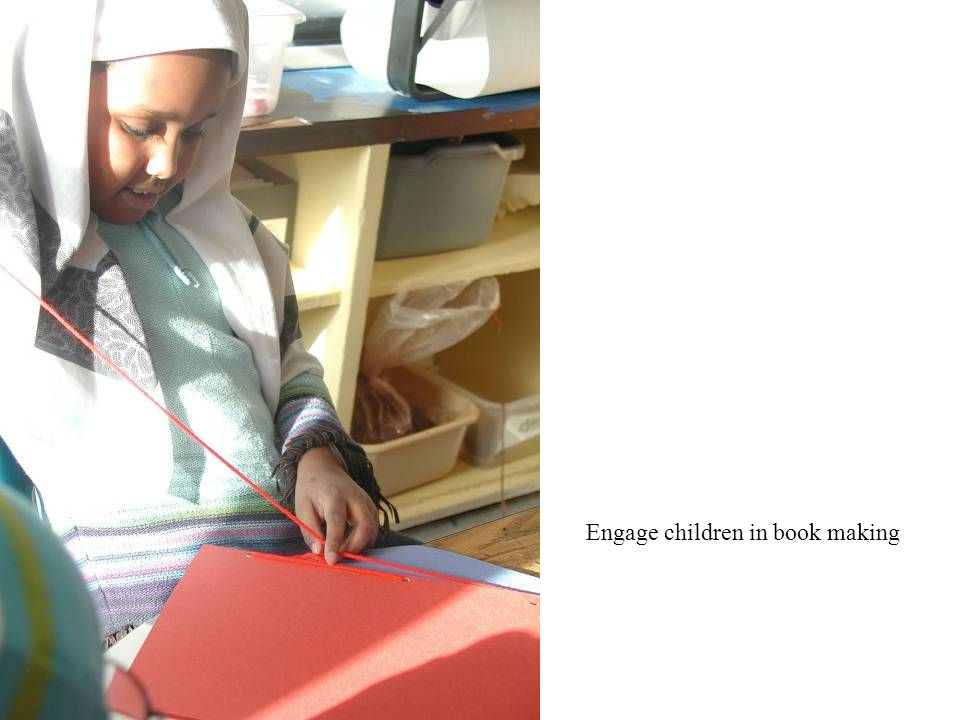 Engage children in book making