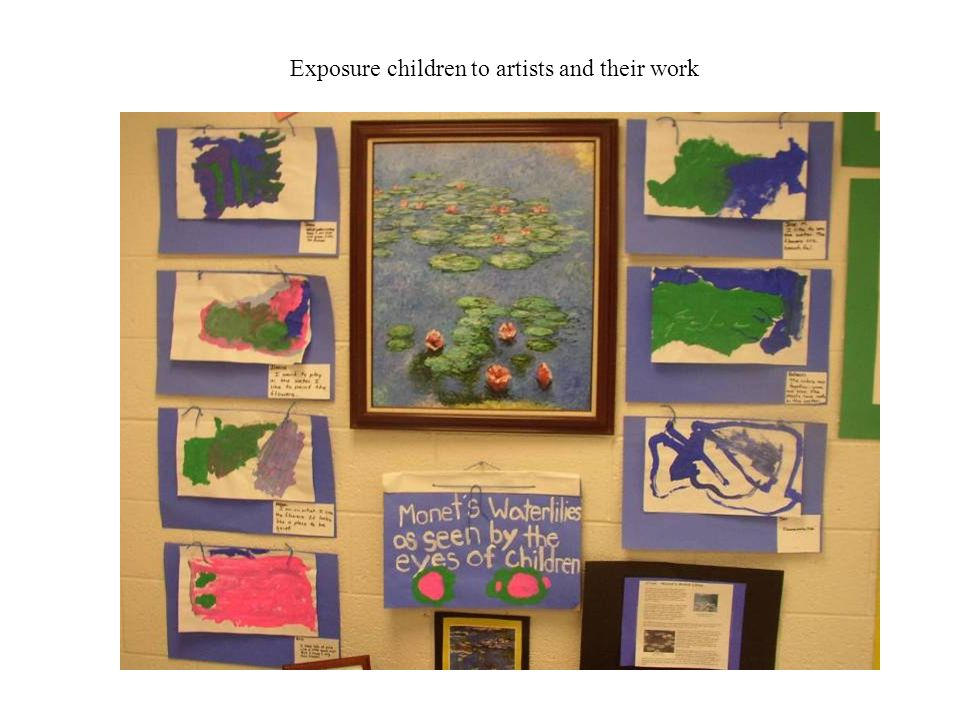 Exposure children to artists and their work