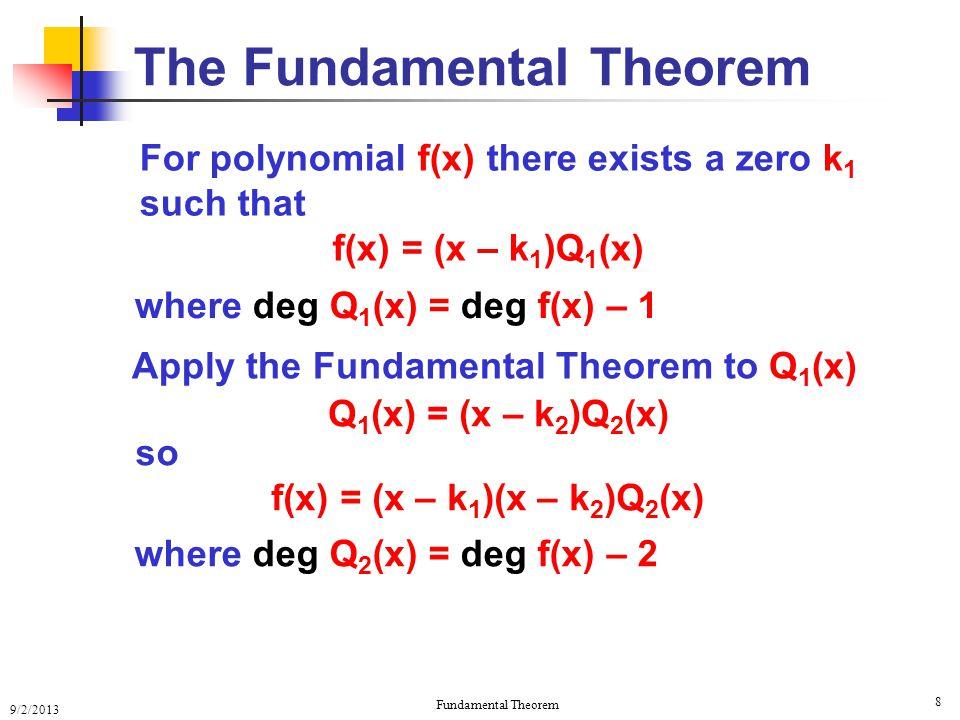 The Fundamental Theorem