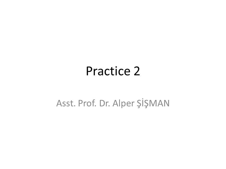 Asst. Prof. Dr. Alper ŞİŞMAN