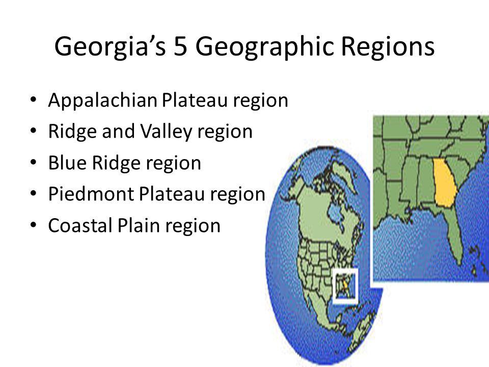 Georgia's 5 Geographic Regions