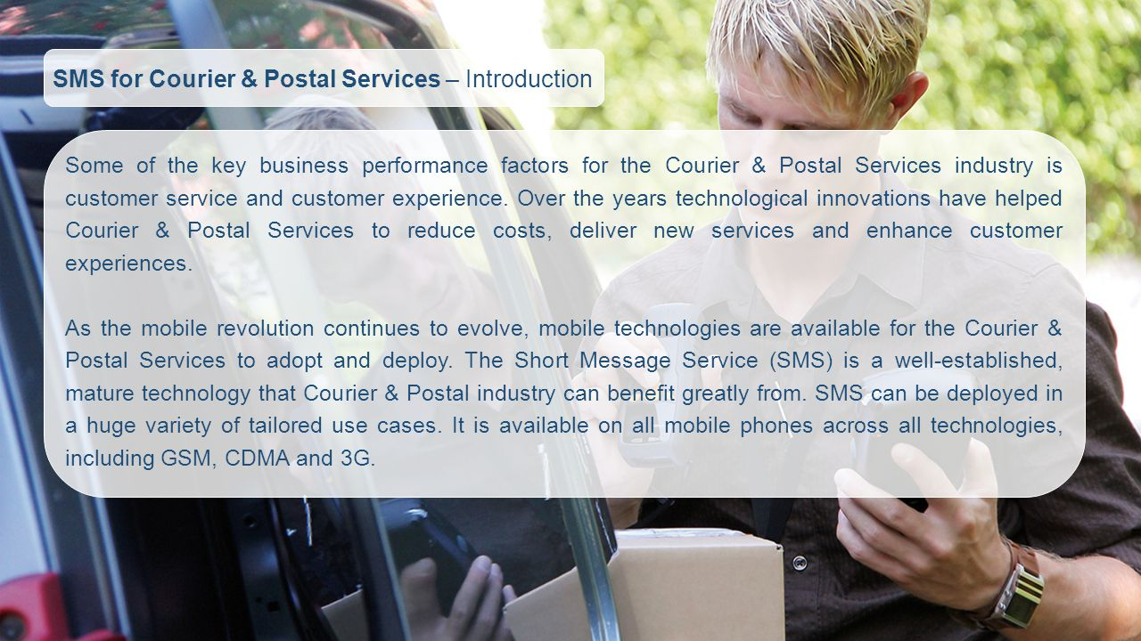 SMS for Courier & Postal Services – Introduction