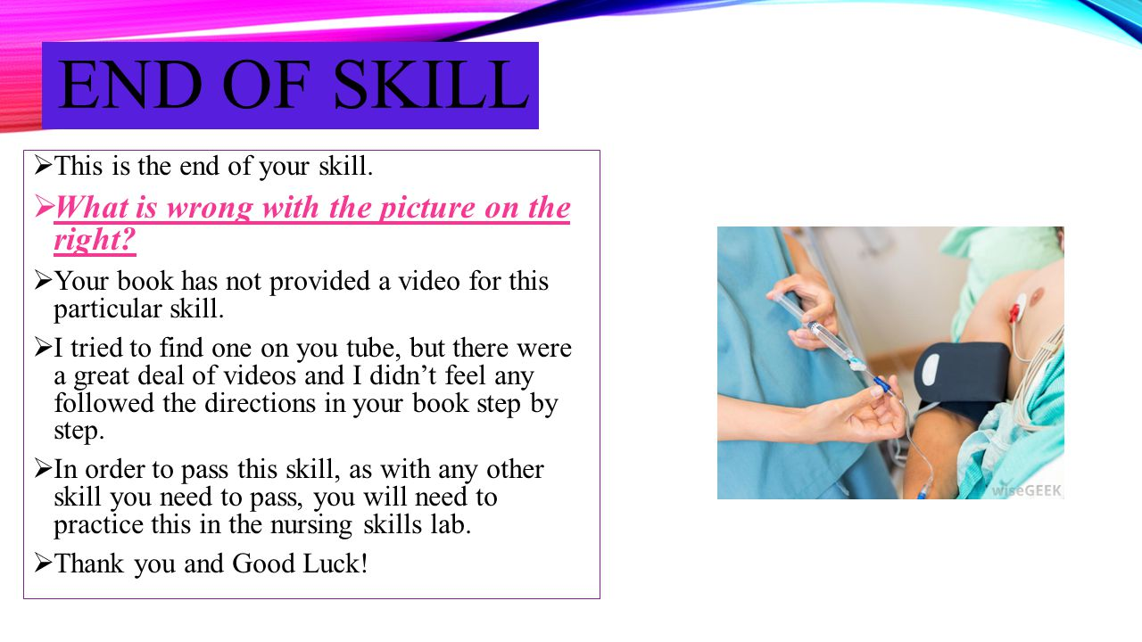 End of skill What is wrong with the picture on the right