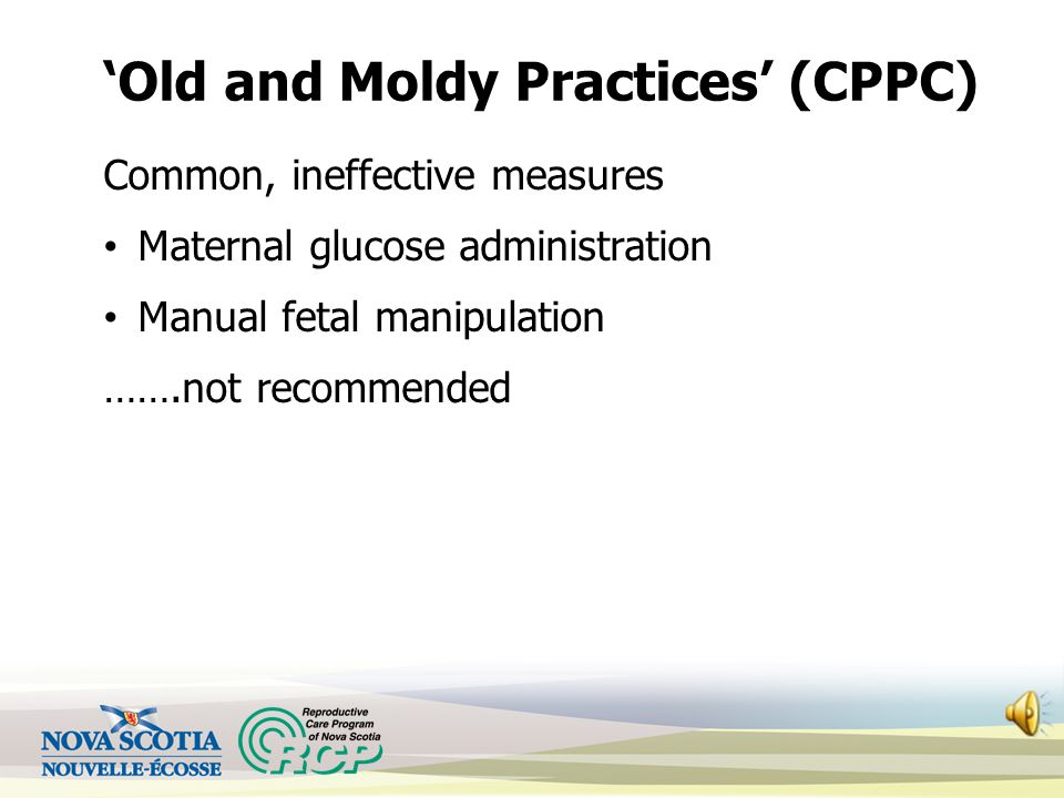 'Old and Moldy Practices' (CPPC)