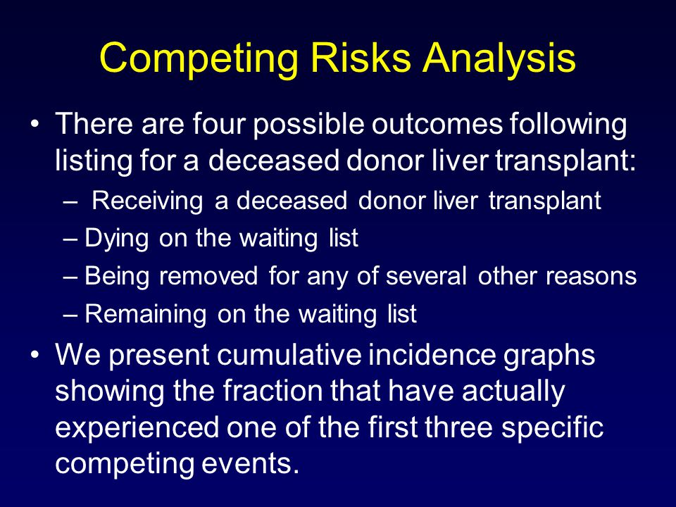 Competing Risks Analysis
