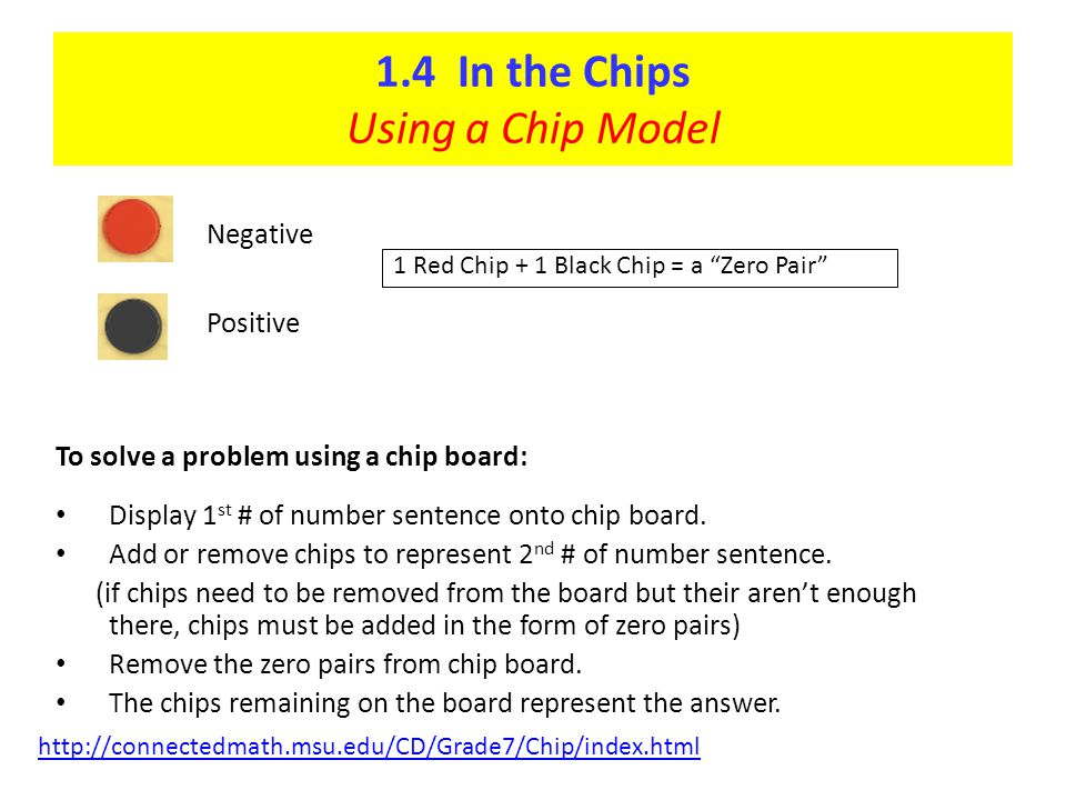 1.4 In the Chips Using a Chip Model