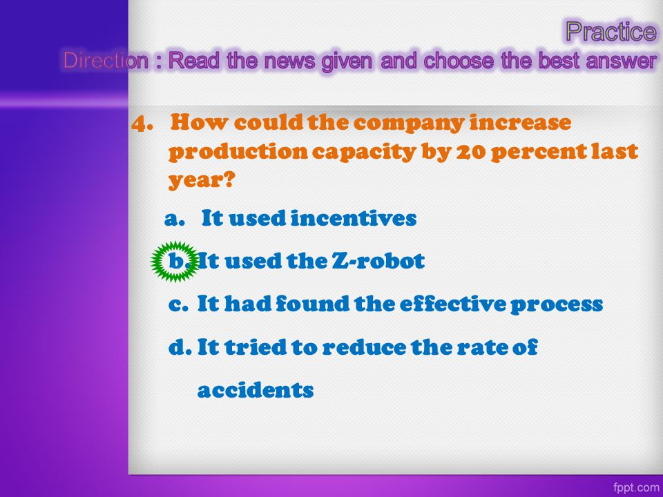 Practice Direction : Read the news given and choose the best answer.