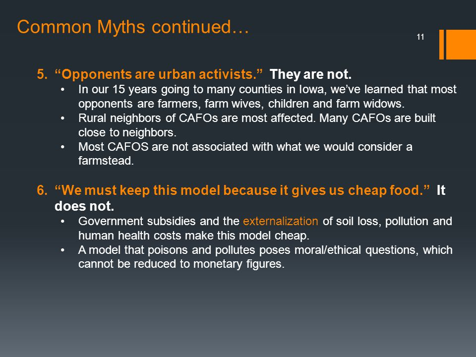 Common Myths continued…