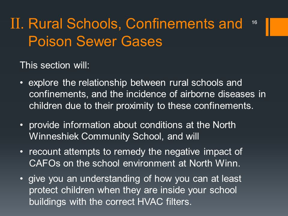 II. Rural Schools, Confinements and Poison Sewer Gases