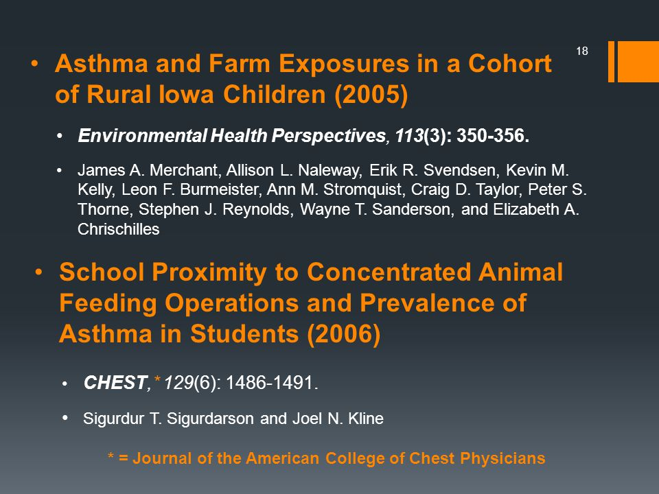 Asthma and Farm Exposures in a Cohort of Rural Iowa Children (2005)