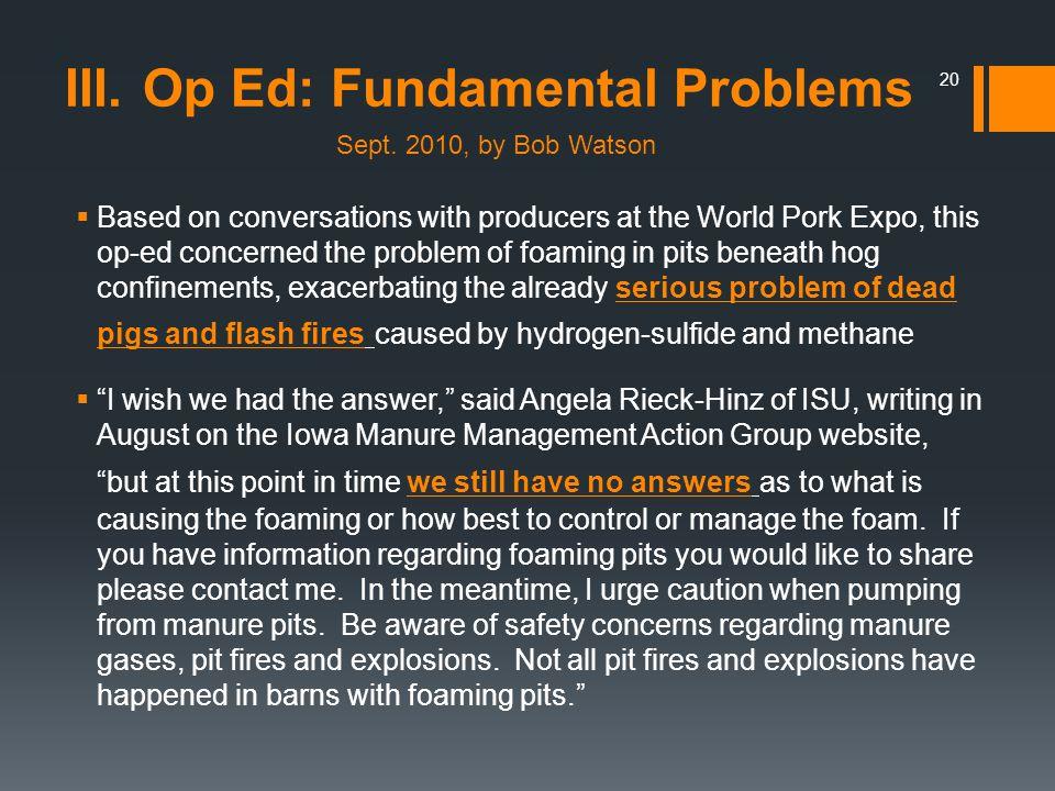 Op Ed: Fundamental Problems