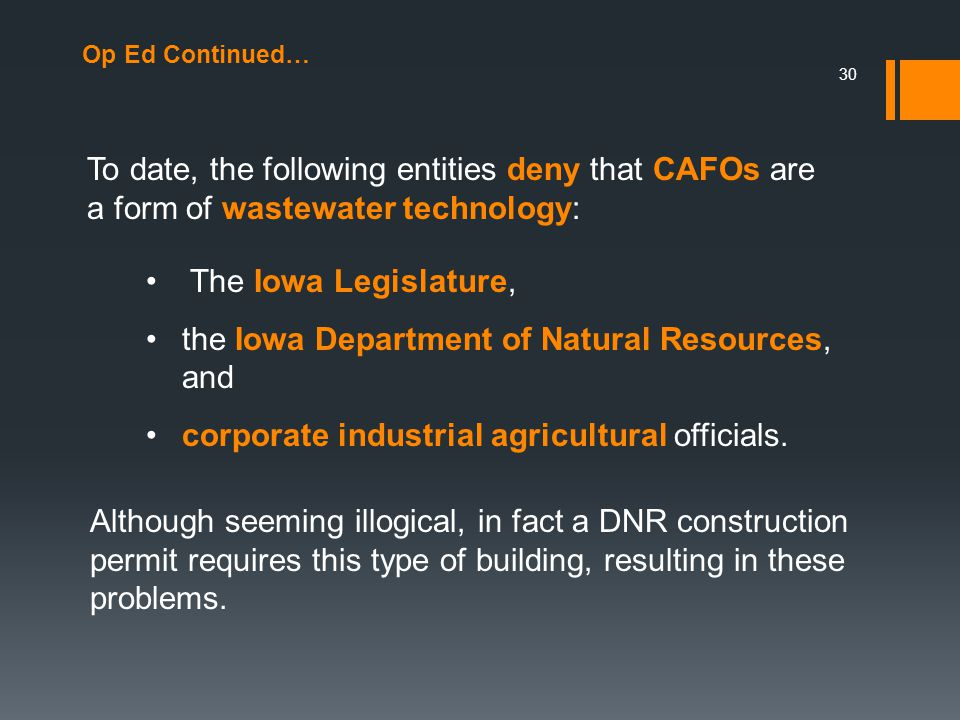 • the Iowa Department of Natural Resources, and