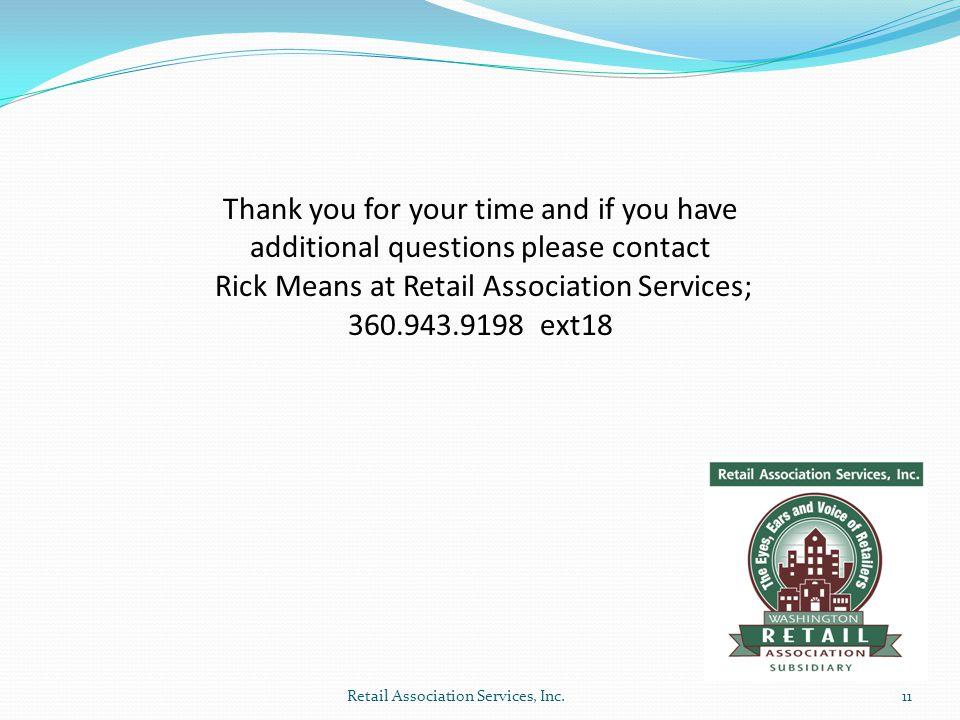 Retail Association Services, Inc.