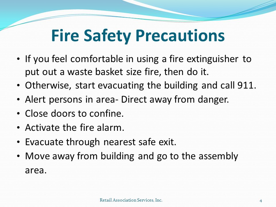 Fire Safety Precautions