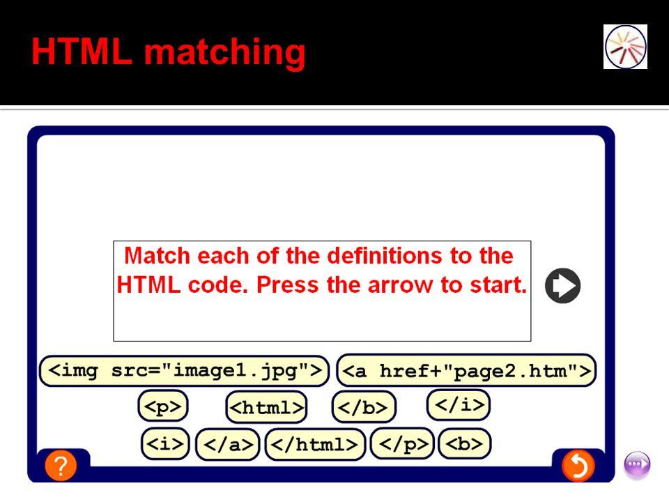 HTML matching