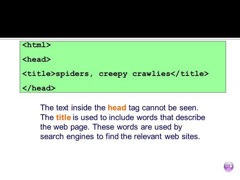 <html> <head> <title>spiders, creepy crawlies</title> </head>