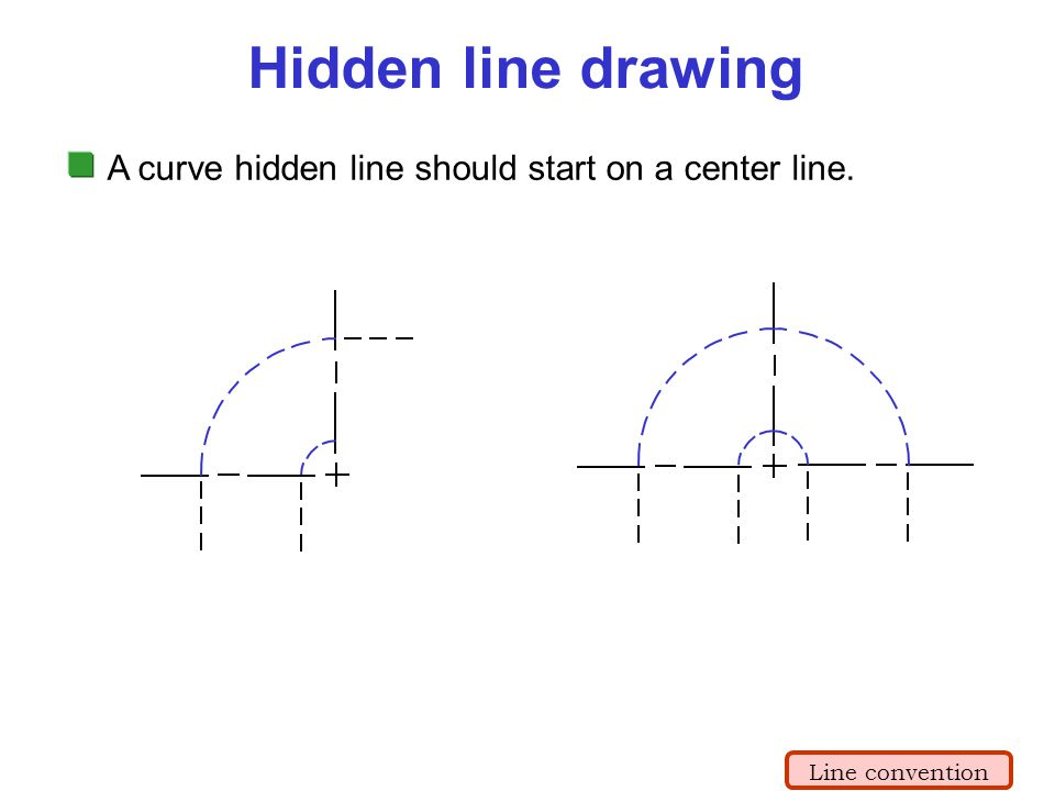 Drawing With Hidden Lines : Lecture orthographic projection ppt video online download