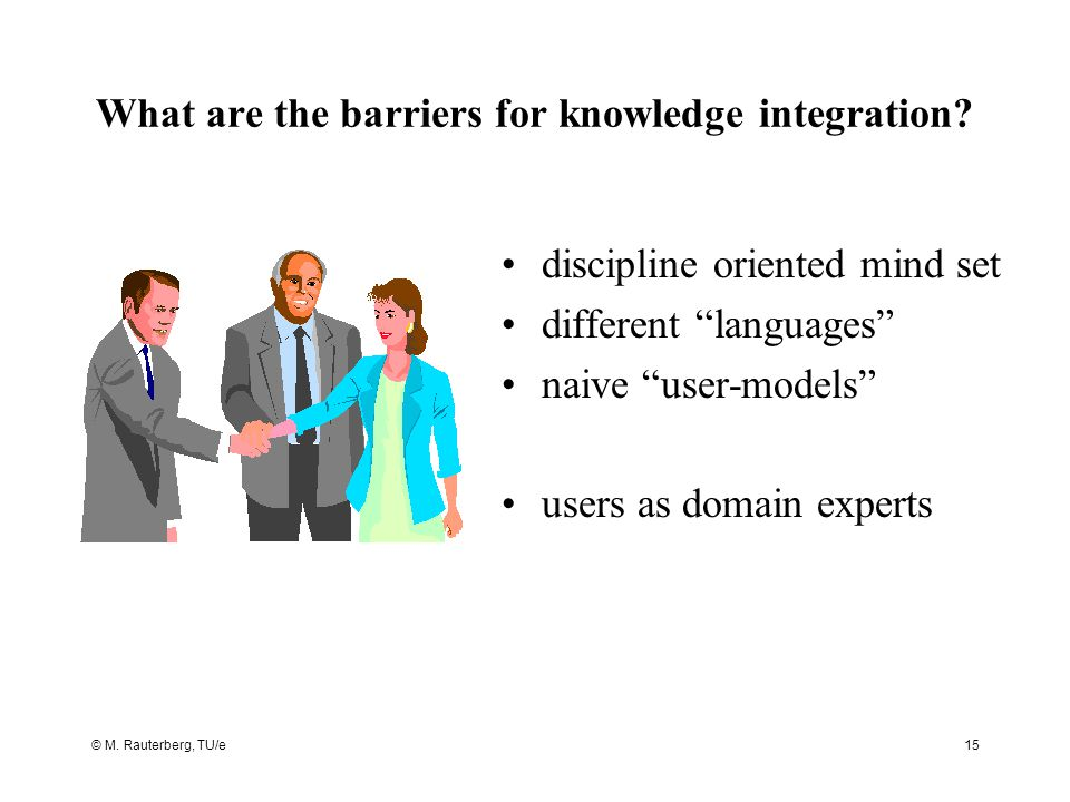 What are the barriers for knowledge integration